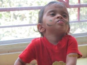 My son Aarav